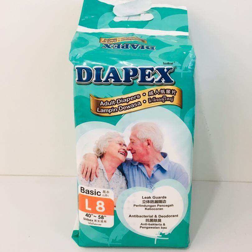 Diapex Basic L 8pcs Adult Diapers