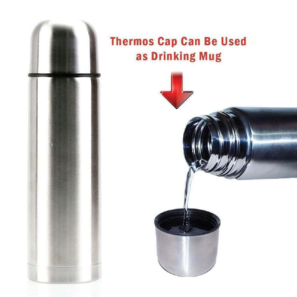 Double Wall Stainless Steel Flask Thermos Bottle Tumbler 0.5 Liter