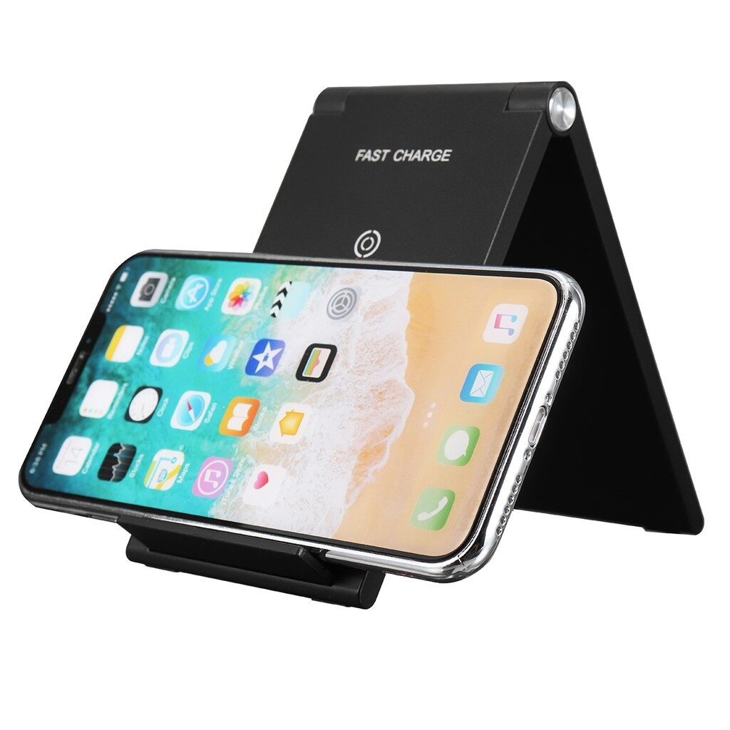 Gadgets - Folding 10W Qi Fast WIRELESS Charger Holder Charging Dock Pad Stand For iPh X - Cool