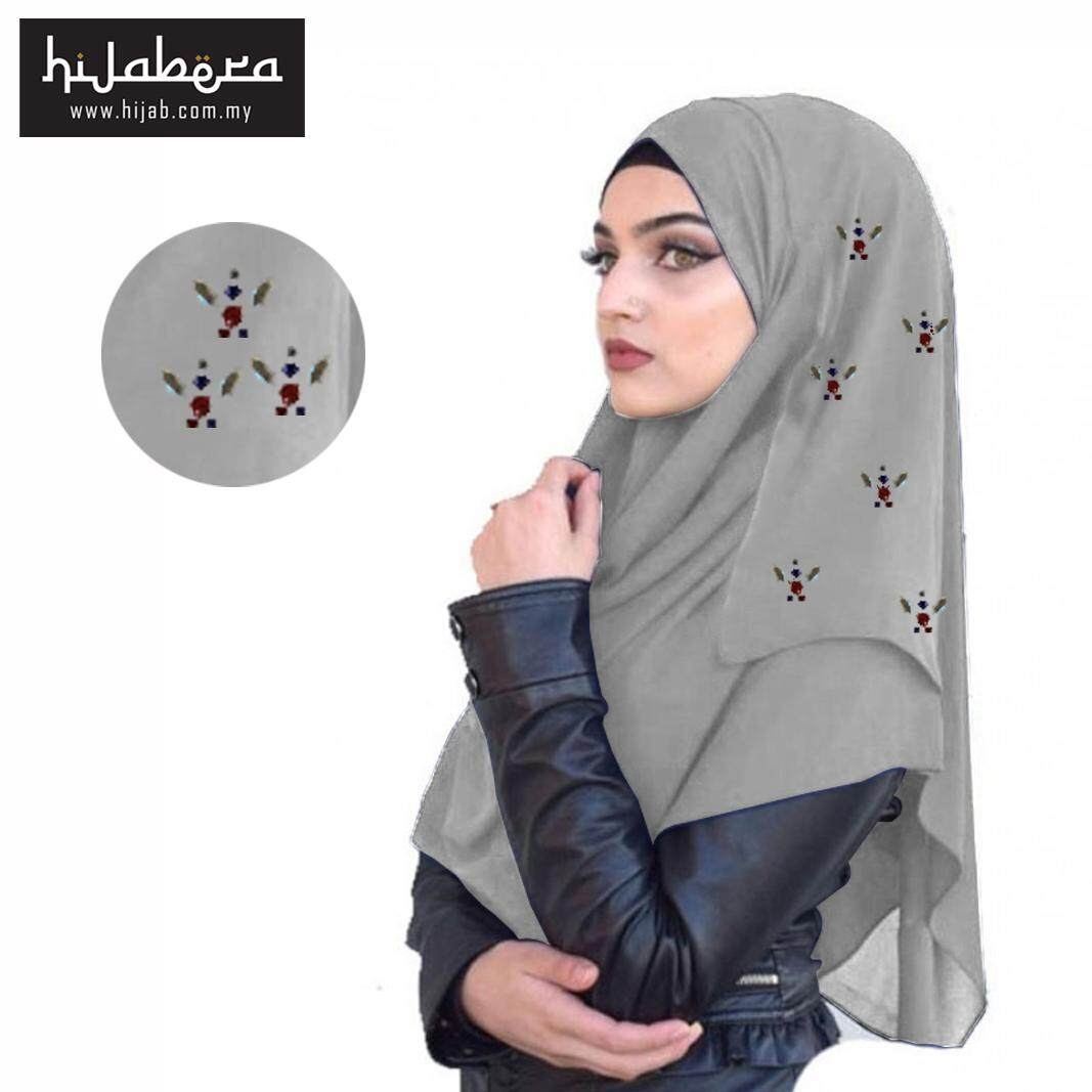 Instant Chiffon Shawl -Glaze-Light Grey