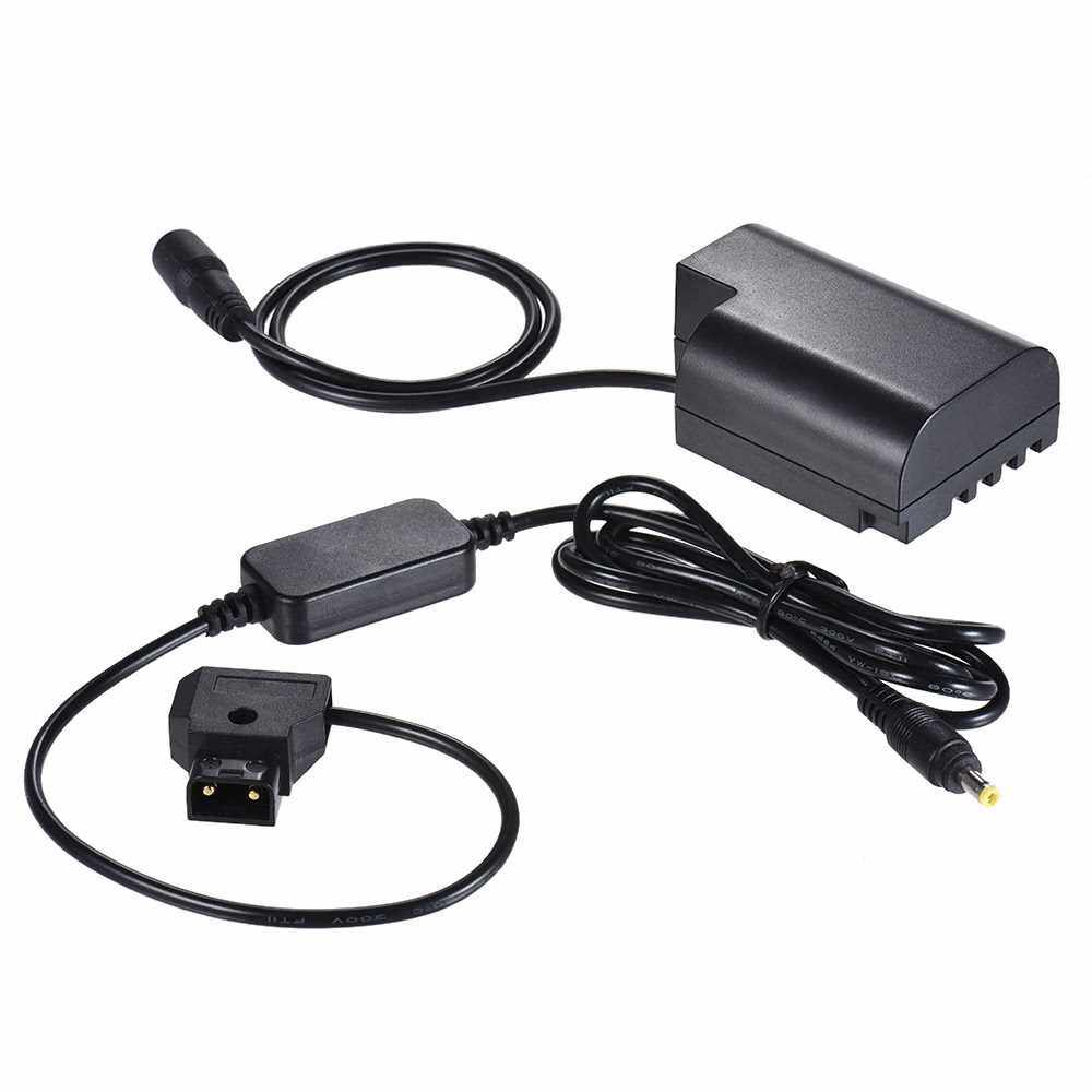 Andoer V-mount / Anton Bauer D-Tap to DMW-DCC12 DC Coupler Cable Dummy Battery Adapter for Panasonic DMC-GH5/GH4/GH3 (Black)