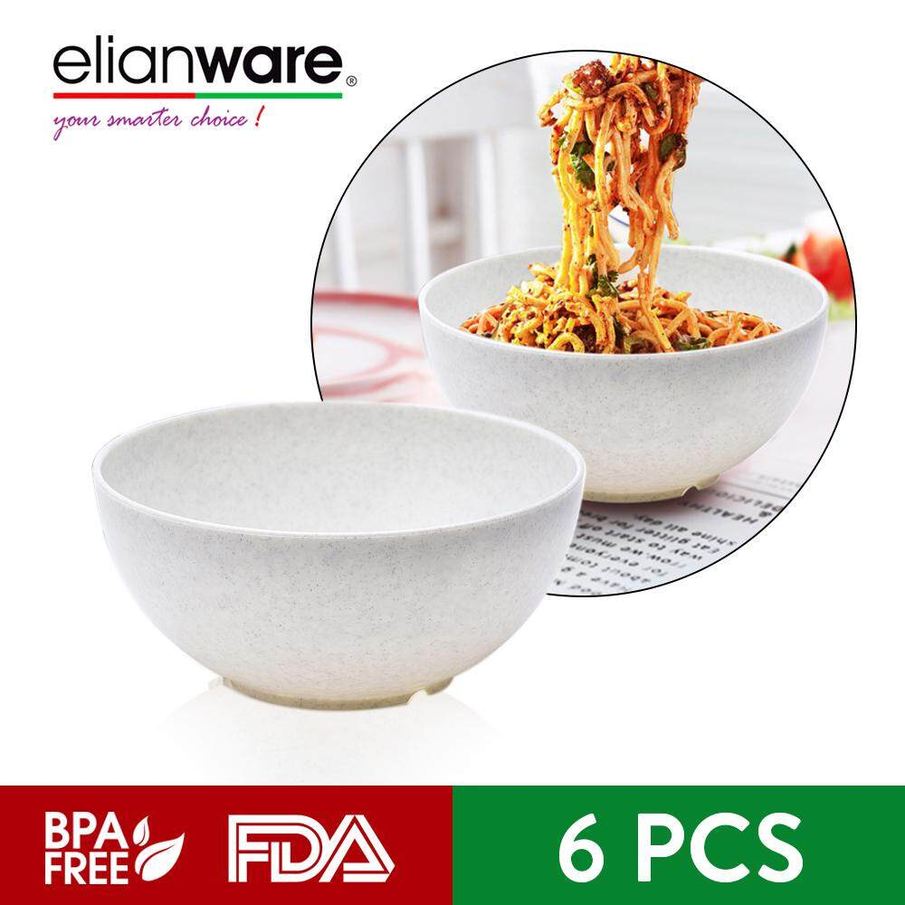 Elianware 7'' Marble Dining Bowl (6 Pcs Set) Big Soup Noodle Mangkuk Bowl
