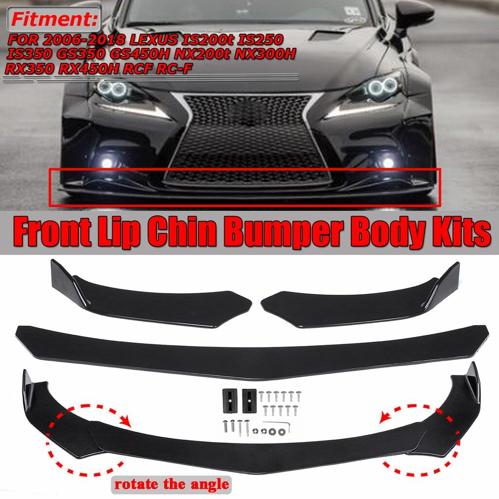 Automotive Tools & Equipment - Universal Front Bumper Lip Body Kit Spoiler For Honda Civi Accord BMW Audi Benz - Car Replacement Parts