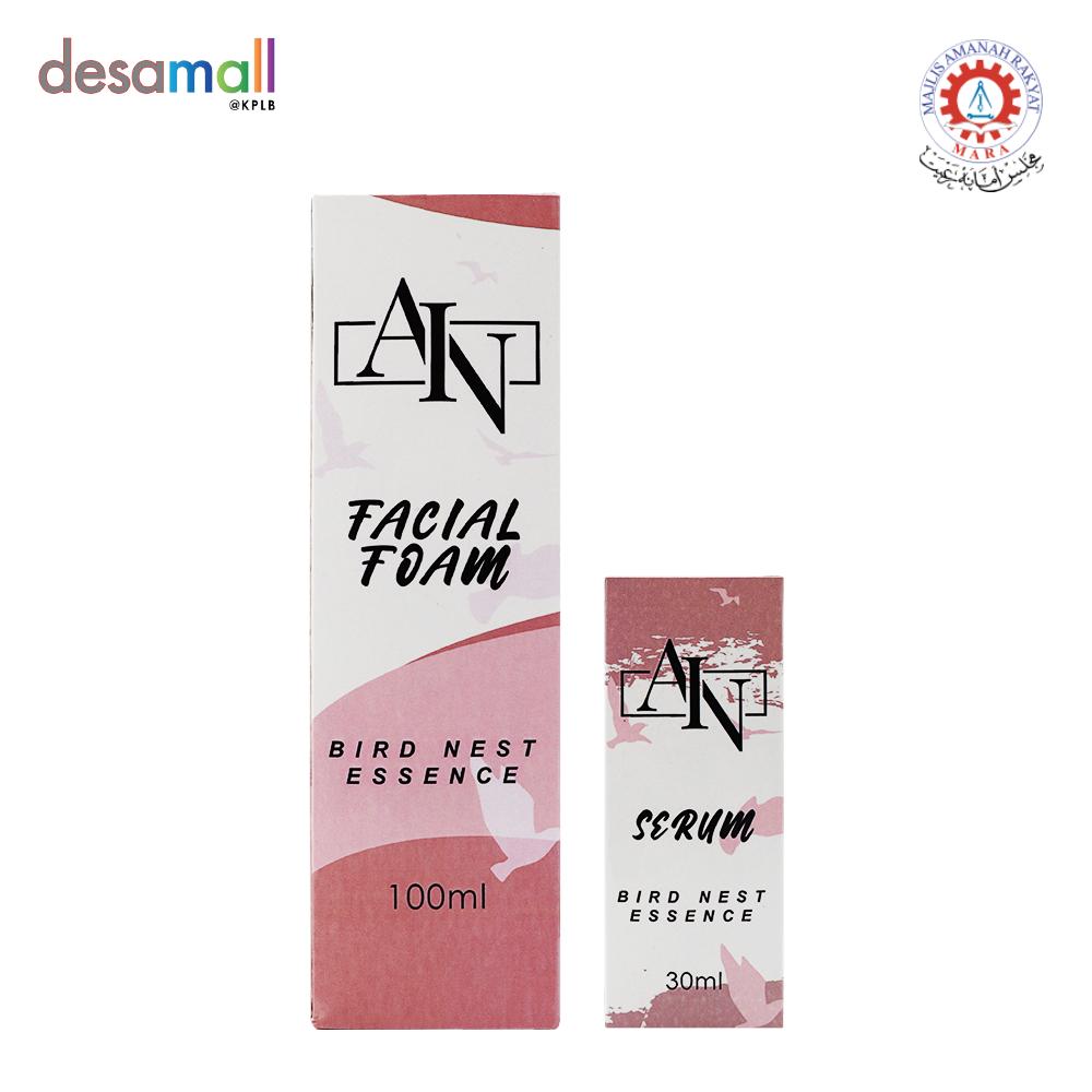 [COMBO 2] AIN Bird Nest Facial Foam (100ml) + AIN Serum Bird Nest Essence (30ml)
