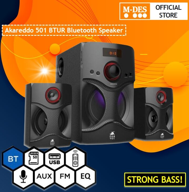[READY STOCK] OXAYOI Akareddo 501 BTUR Bluetooth Speaker .Compatible with Connection Bluetooth / USB / SD Card / Control