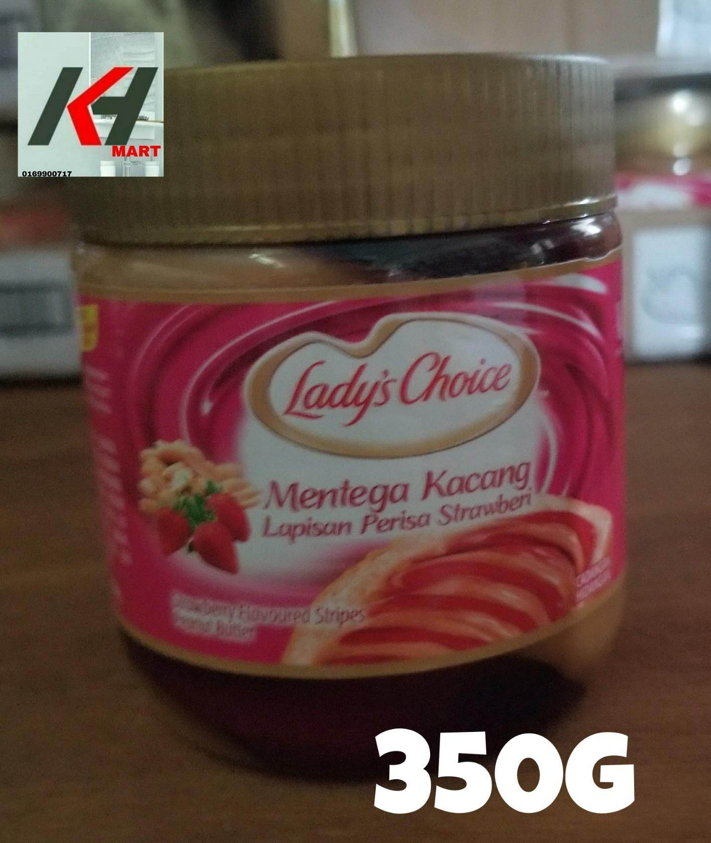 LADY'S CHOICE PEANUT BUTTER (PERISA STRAWBERI ) - 350G READY STOCK