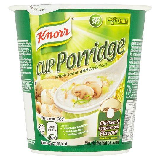 KNORR CUP PORRIDGE & MUSHROOM 35G