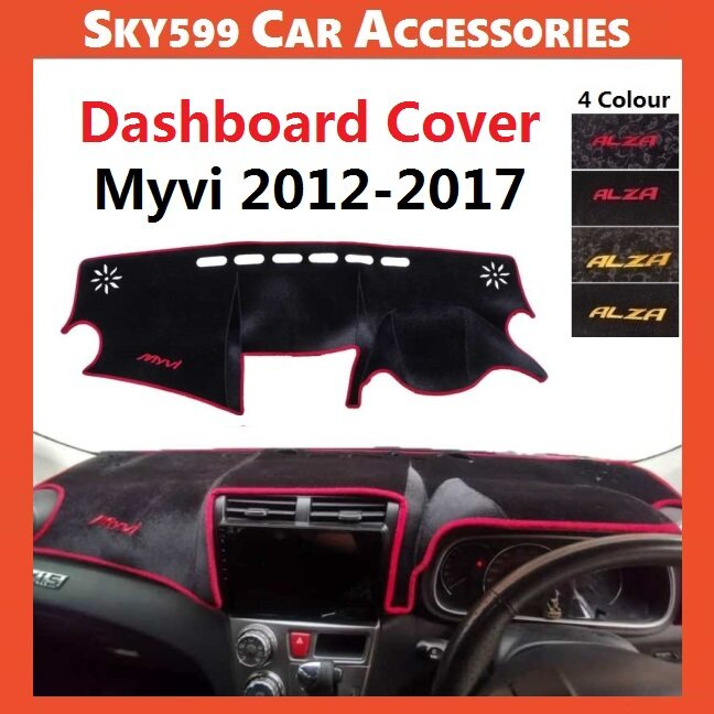 Perodua Myvi 2012-2017 Dashboard Cover Anti Slip Thick Dashboard Mat High Quality