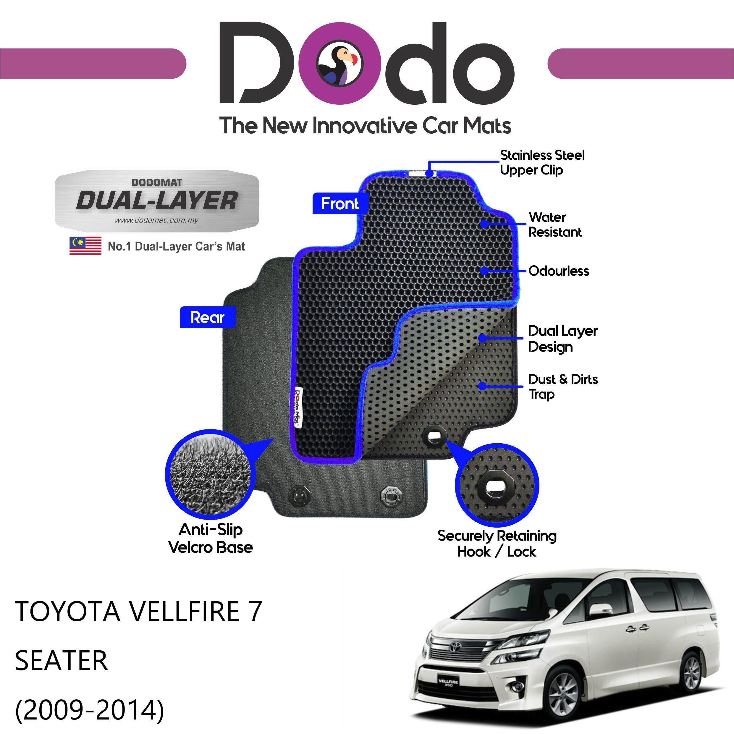 DODOMAT Car Mat TOYOTA VELLFIRE 7 SEATER (2009-2014) BASIC