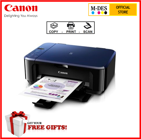 Canon PIXMA E510 - A4 3-in-1 USB Inkjet Printer With Ink