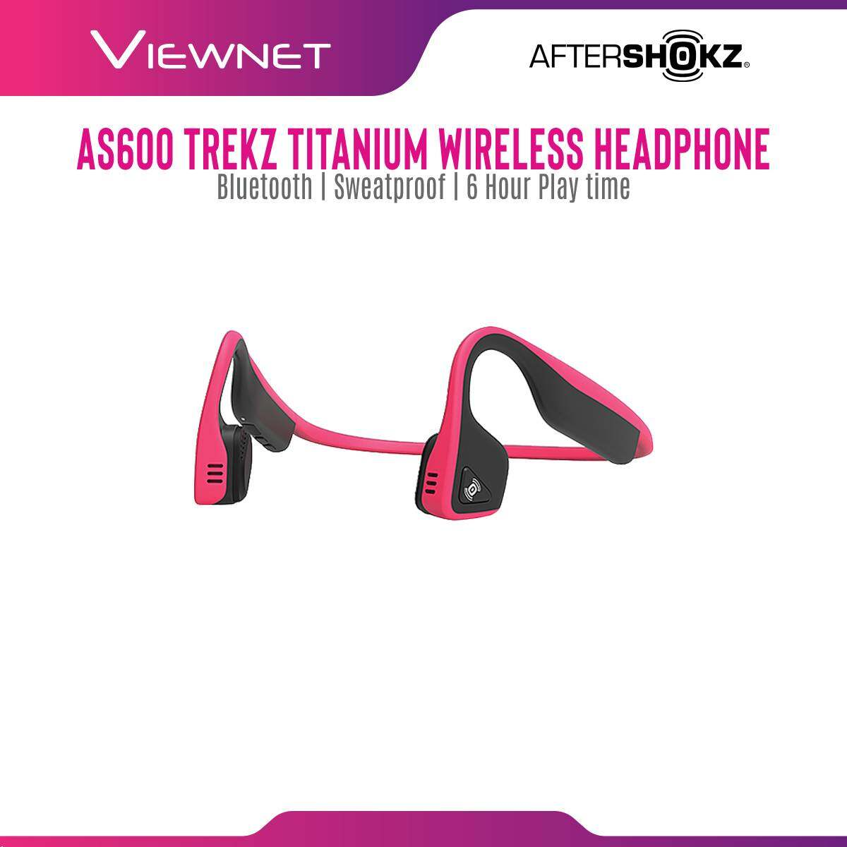 AfterShokz Trekz Titanium Mini Slate Grey/Pink Wireless Bone Conduction Headphones
