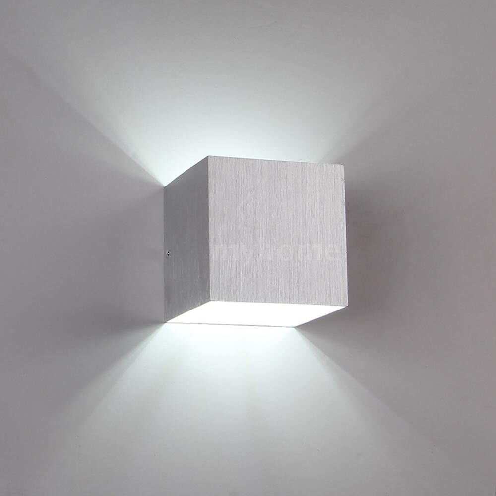 Outdoor Lighting - AC85-265V 3W LED Square Wall Lamp Tetragonum Hall Light 250LM for Corridor Aisle Living Room