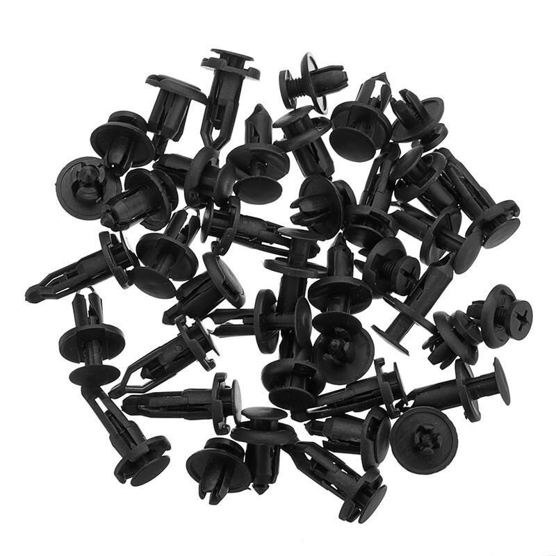 Car Lights - 40x Car Plastic Rivet Bumper Fender Fastener Retainer Mud Flaps Push Clips Pin - Replacement Parts