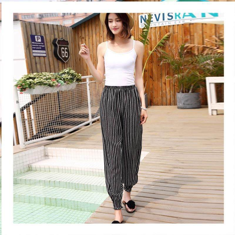 Plus Size Women Stretchable Long Pants Casual Comfortable Loose Long Pants
