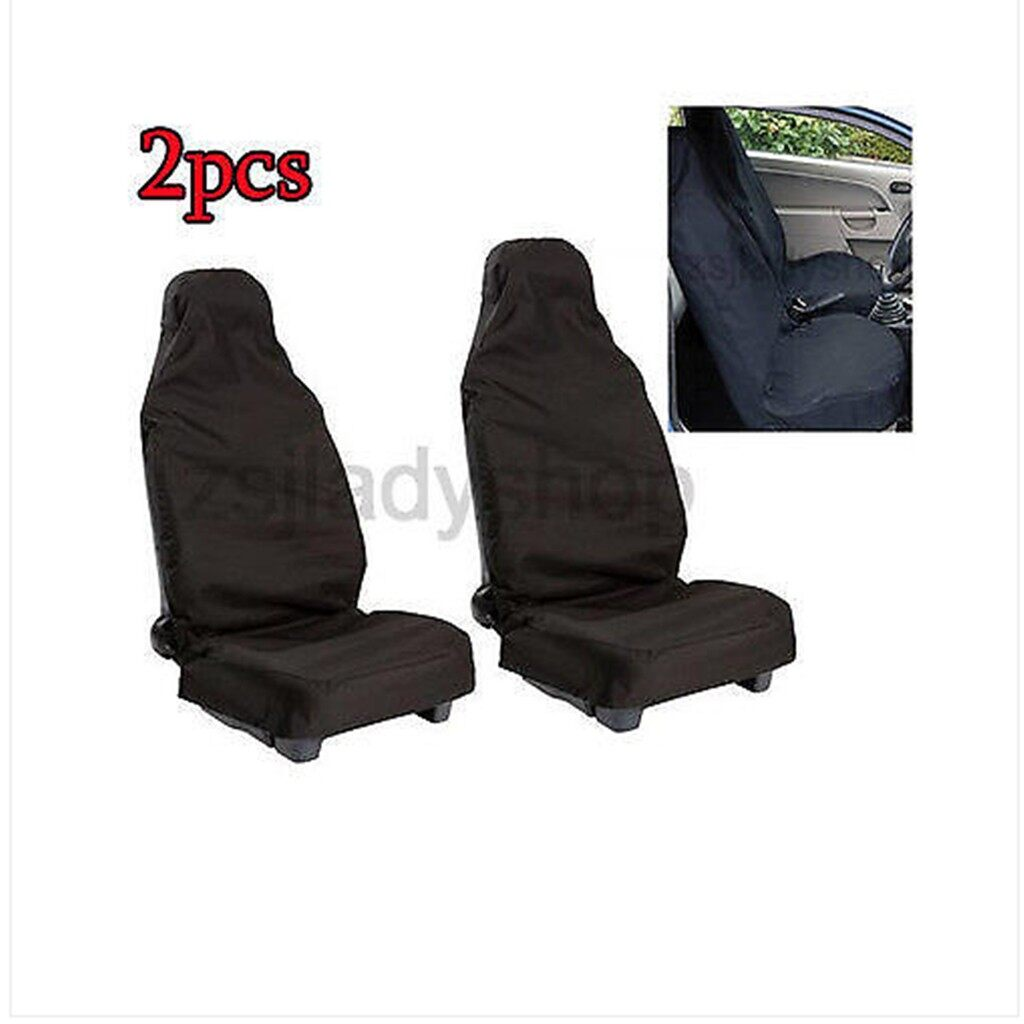 Tyres & Wheels - 2 PIECE(s) Front Auto Vehicle Seat Cover Protector Black - Car Replacement Parts