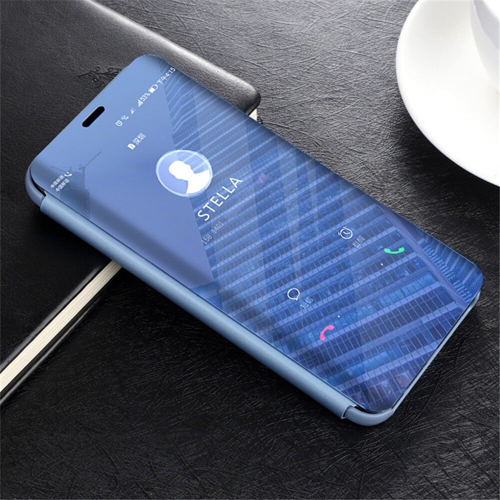 iPh Soft Cover - Smart Sleep Flip Protective Case for Huawei Mate 20 Lite Maimang 7 - SILVER / ROYAL BLUE / BLACK / SKY BLUE