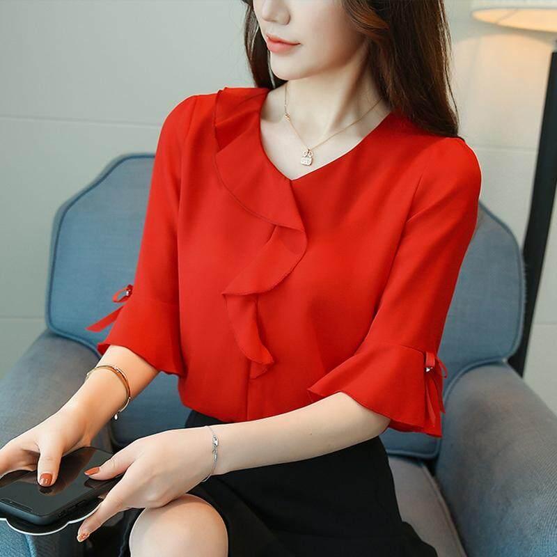 (Pre Order ETA End Feb CNY Break)(Pre Order ETA 14/2) (Ready Stock)JYS Fashion Korean Style Women Bell Sleeve Top Collection 383- 6820