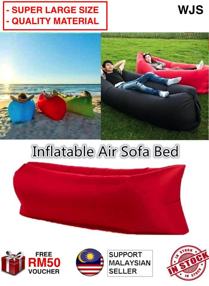 (SUPER LARGE SIZE) WJS Lazy Couch Camping Hiking Sleeping Bag Air Bed Lounger Laybag Air Sofa Air Mattress Picnic Chair Picnic Sofa Picnic Bed Outing Sofa Outdoor Sofa For Indoor Outdoor MULTICOLOR L - 2XL [FREE RM 50 VOUCHER]