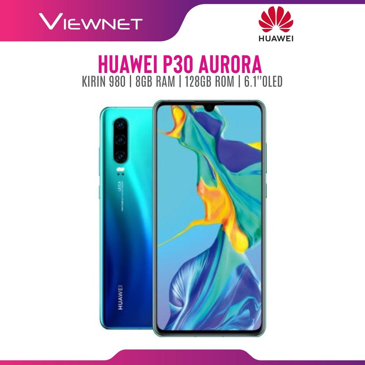 Huawei P30 Smartphone 8GB + 128GB (Aurora/Breathing Crystal)