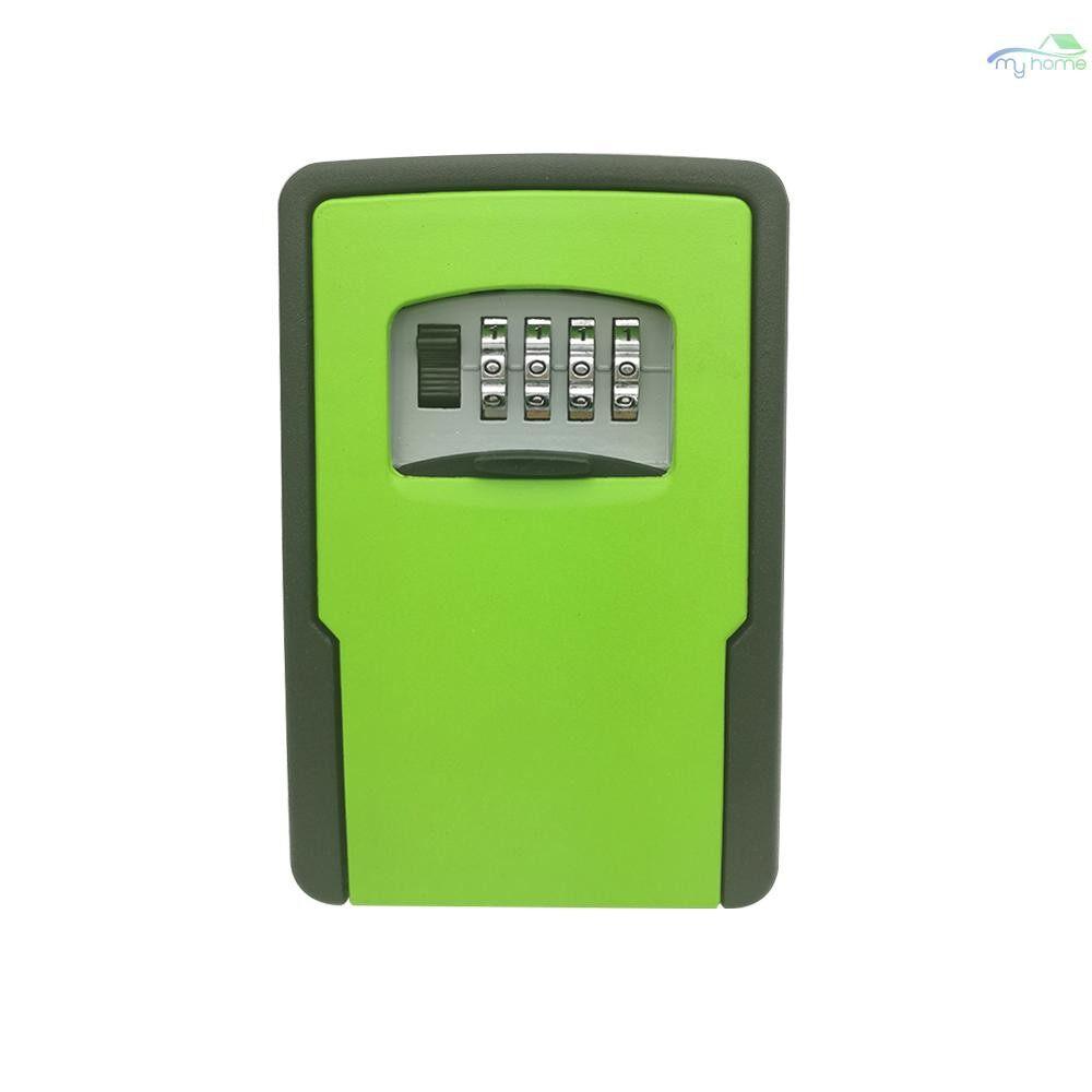 Chains & Locks - Key Storage Lock Box Wall Mounted Key Lock Box With 4-Digit Combination for House Keys Car Keys for - ORANGE / GREY / YELLOW / RED / GREEN / BLACK / BLUE