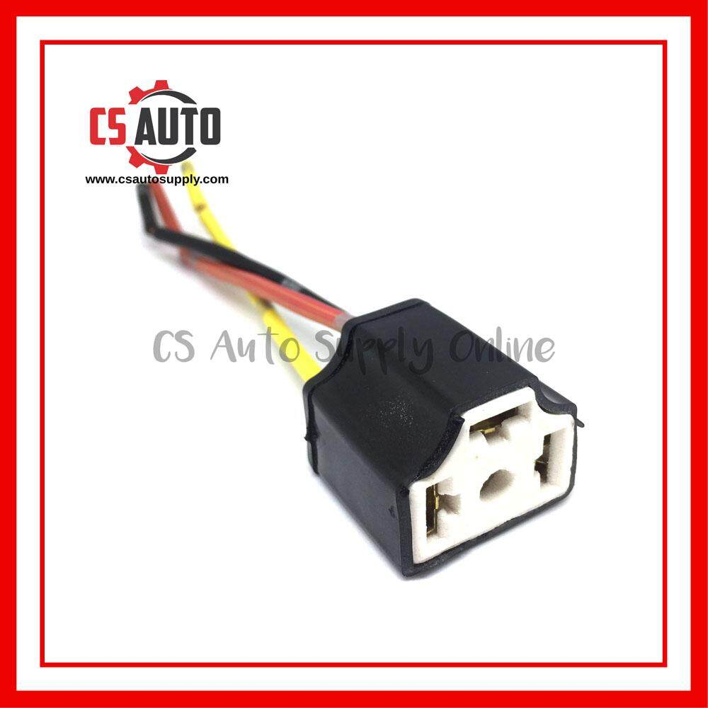 [CS auto] Head Lamp Socket Bulb Holder H4 Ceramic X 1Pc Extension Wire Harness Female Socket Adapter