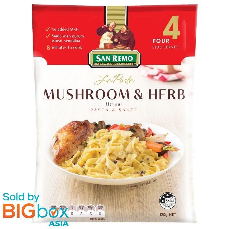 San Remo La Pasta 120g - Mushroom & Herbs