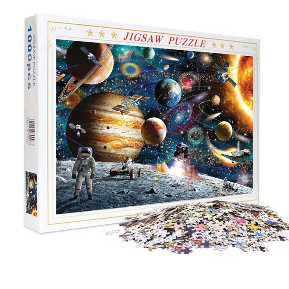 1000 Pieces Jigsaw Puzzles Educational Toys Scenery Space Stars Educational Puzzle Toy for Kids/Adults Christmas Halloween Gift