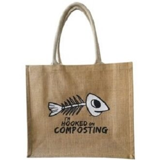"Jute Recycling Bag ""Support Composting"""