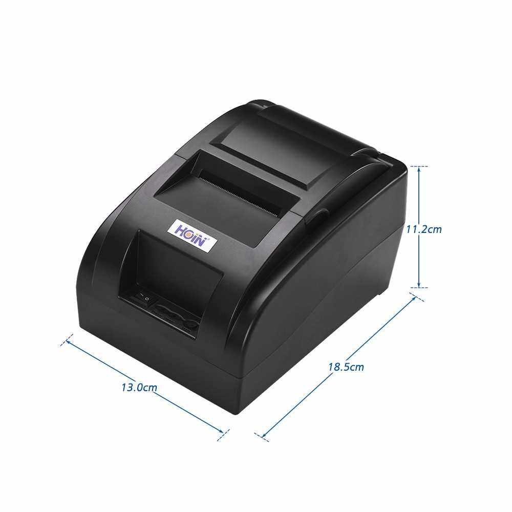 Best Selling HOIN High Quality Portable 58mm Wireless BT Direct Thermal Receipt Printer with USB Cable Support Voice Broadcast ESC/POS Print Commands Compatible for Android/iOS/Windows/Linux Systems for Supermarket Retail Store (Black)