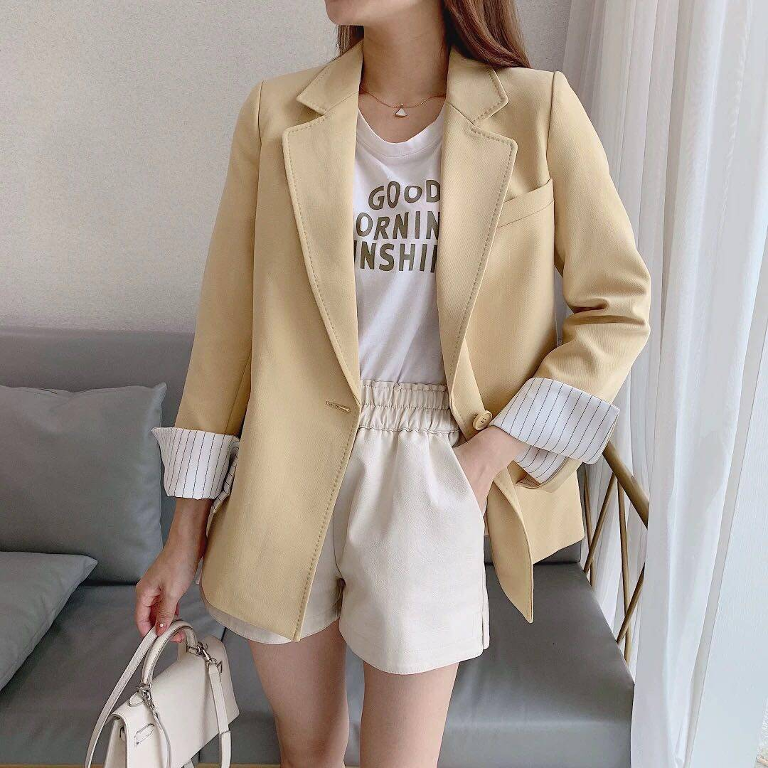 (PRE ORDER) WOMEN NEW CASUAL LOOSE ONE BUTTON SUIT JACKET (WHILE STOCK LAST)