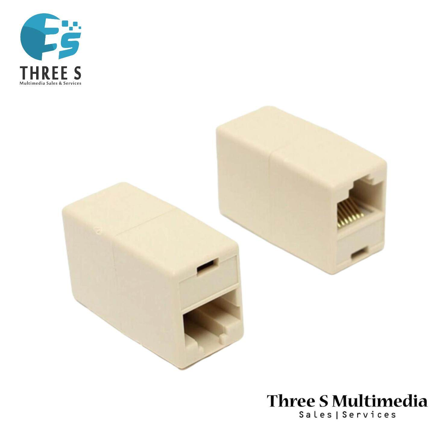 RJ45 Female Ethernet LAN Network Cat5e Extension Adapter Cable Joiner