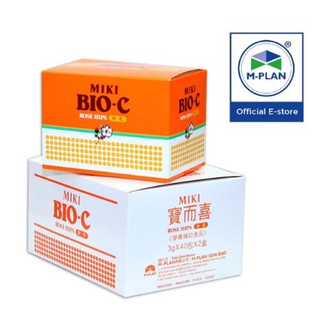 [Ready Stock] MIKI BIO-C 1 set (2 boxes x 40 sachets)