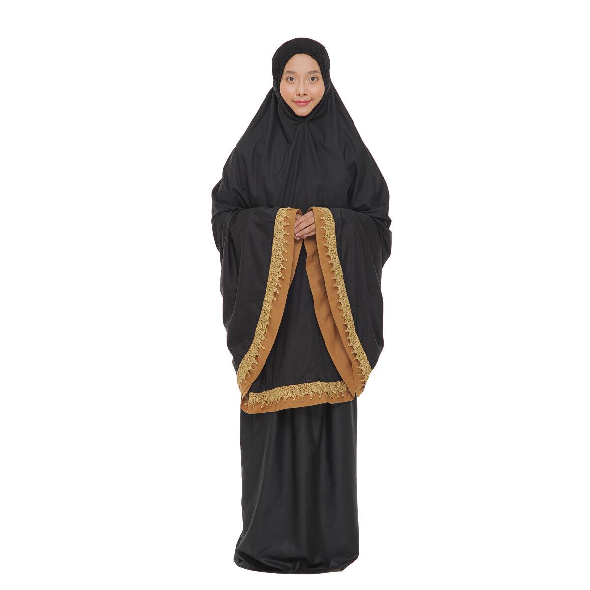 Telekung Siti Khadijah Classic TPO Ufaira in Black (One Set)