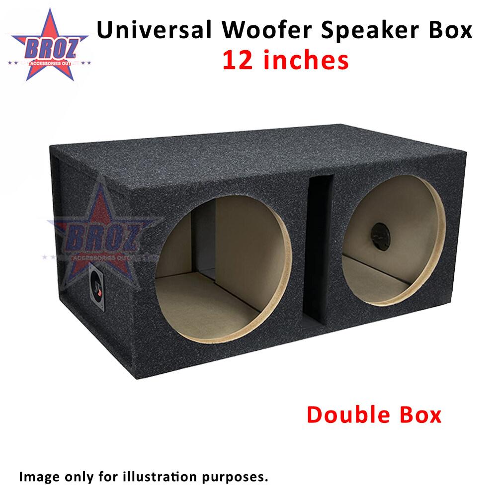 12''/ 6''/ 6 X 9'' Universal Round Car Vented Speaker Woofer Box Speaker Box Speaker Box Subwoofer Single Double Black