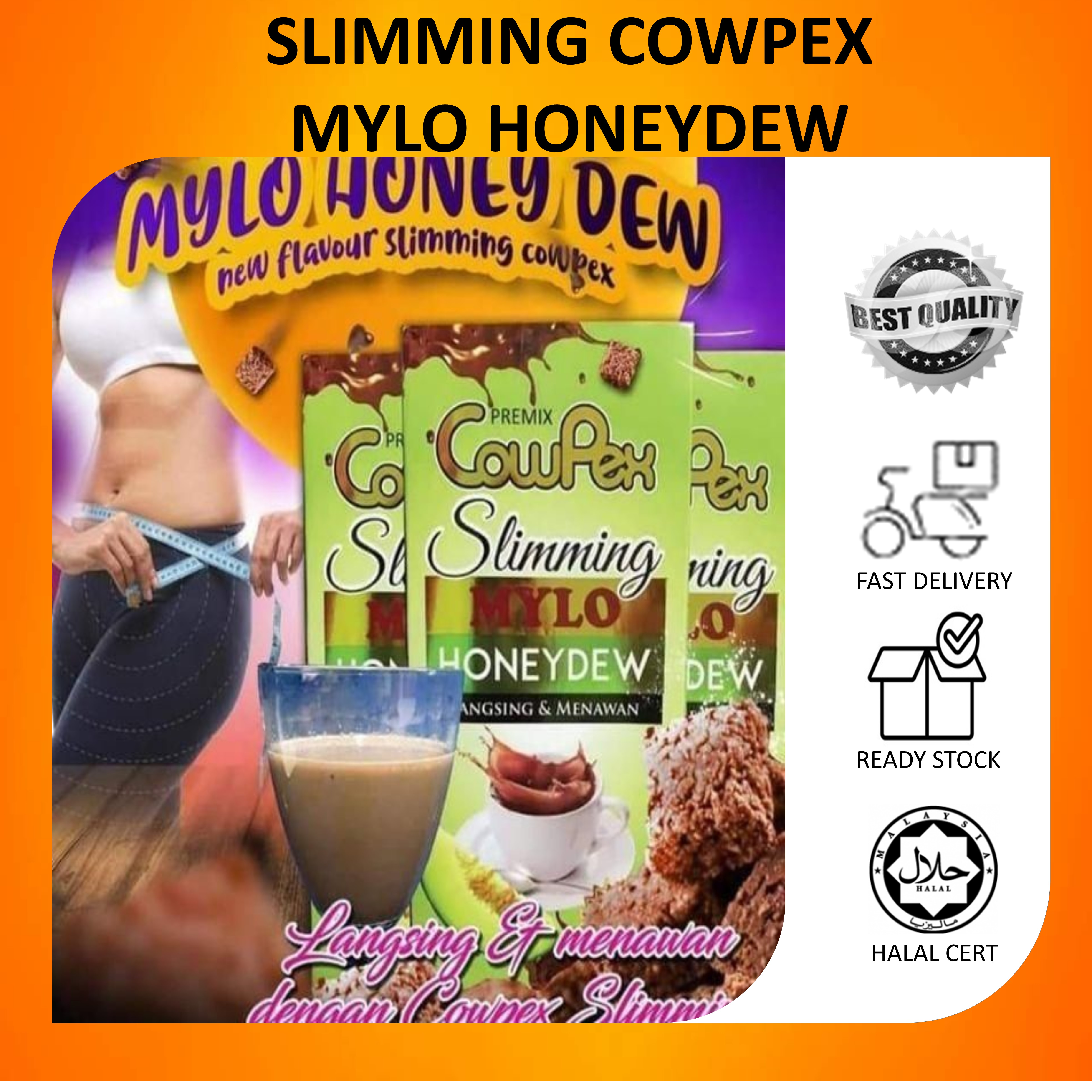 ORIGINAL COWPEX SLIMMING HONEYDEW 15 sachet