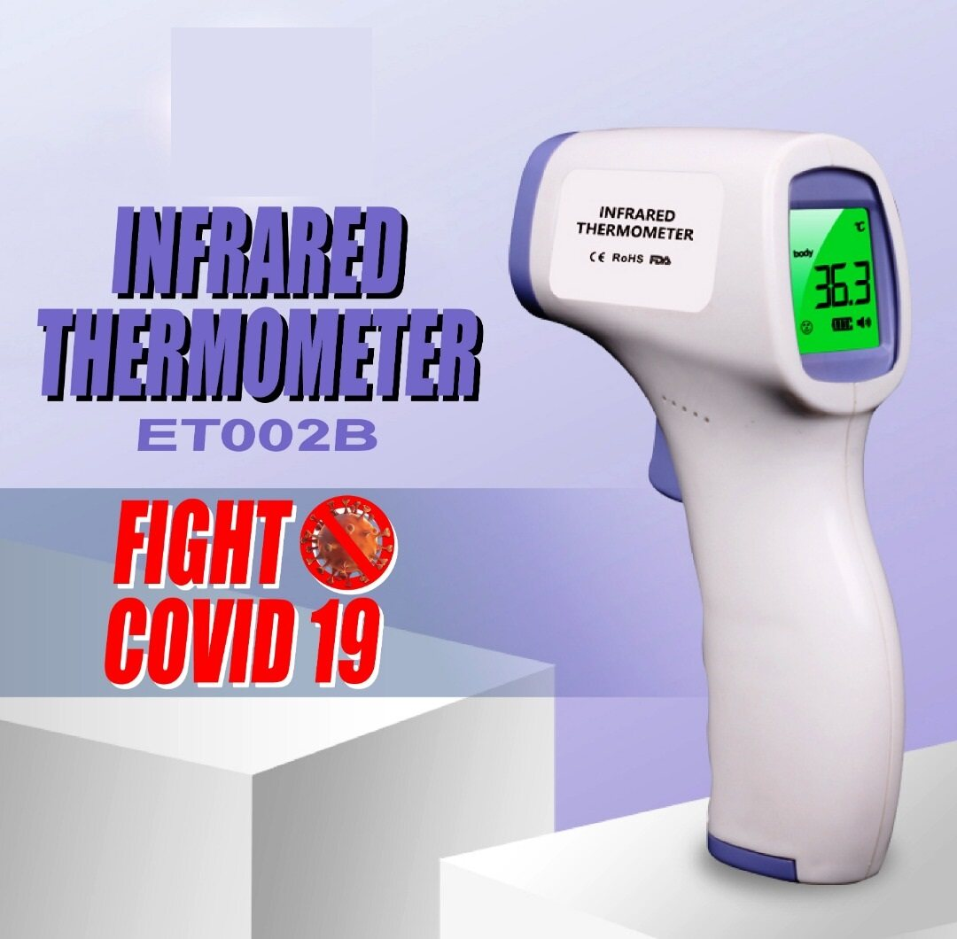 infrared thermometer baby temperature heat hot measure measurement measuring test tester safety health handle holder hold holding monitor supply medical head non contact object data store connector lcd press pressure detector detect iso sensor sense safe