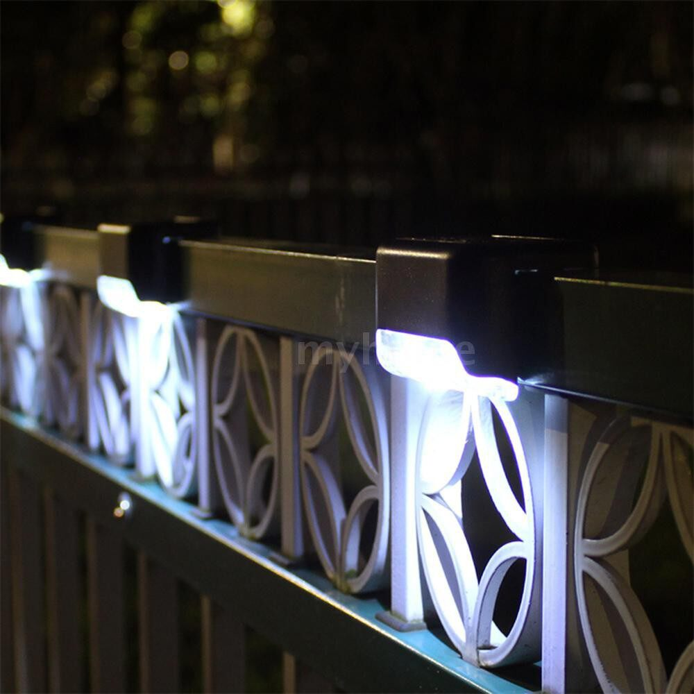 Outdoor Lighting - 4 PIECE(s) Solar Stair Lamp Landscape Courtyard Solar Light Wall Fence Lamps