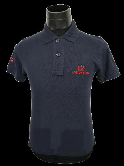 Ready Stock - Korean Style Men Polo Shirt Collection - M-1009 Cotton Style Dark Blue