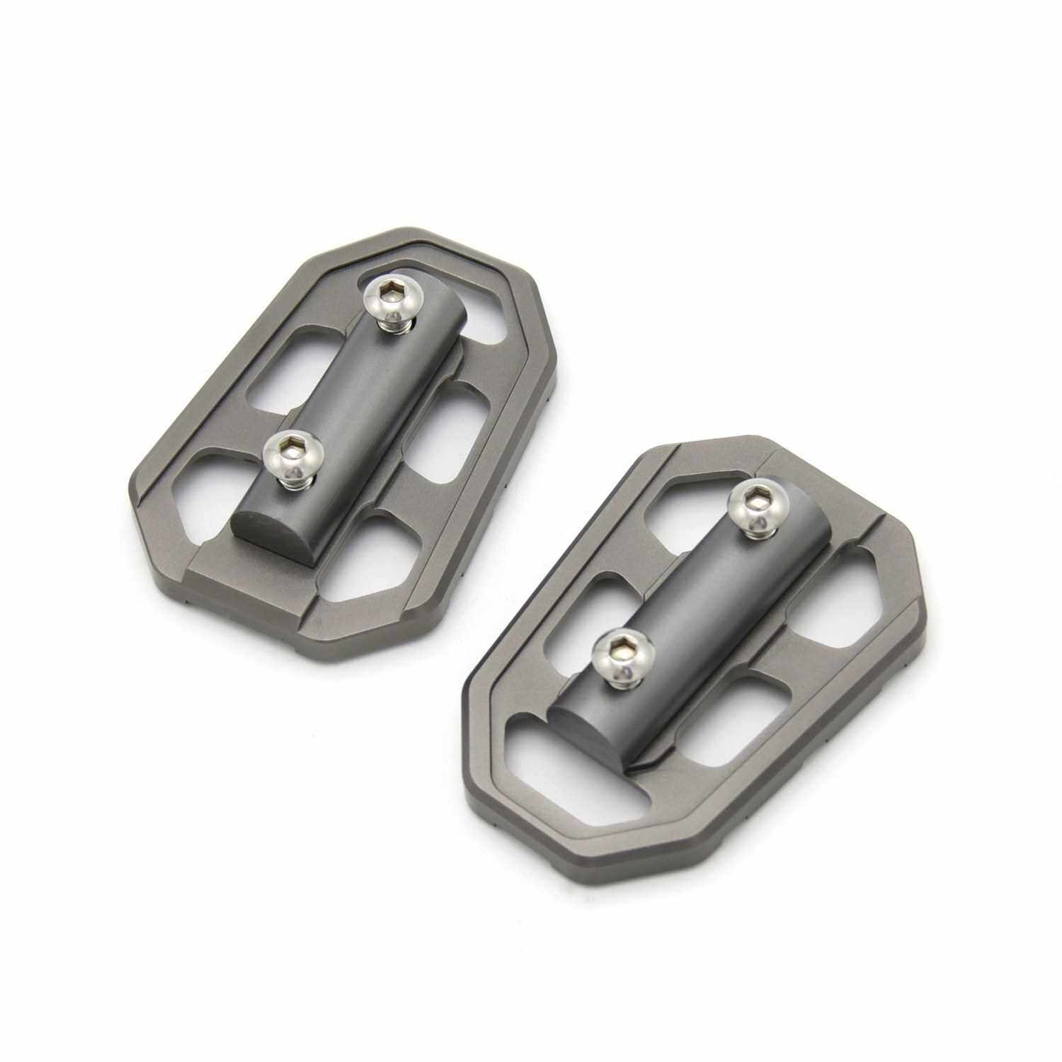 Motorcycle Foot Pegs Front Billet Wide Pedals Rest Footpegs Replacement for BMW BMW F750GS F850GS G310GS R1200GS S1000XR R Nine T (Silver)