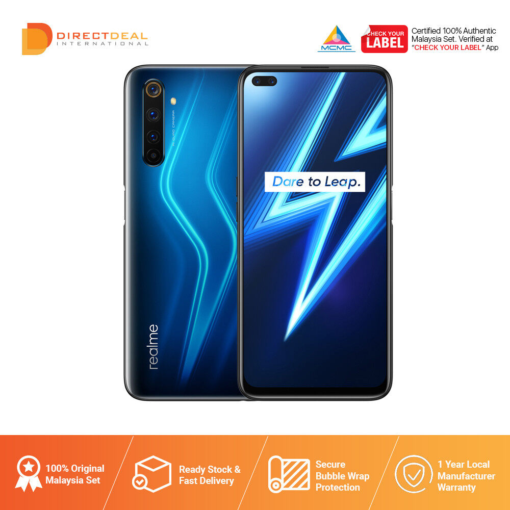 Realme 6 Pro 8GB+128GB Smartphone 1 Year Warranty By Realme (MY SET)