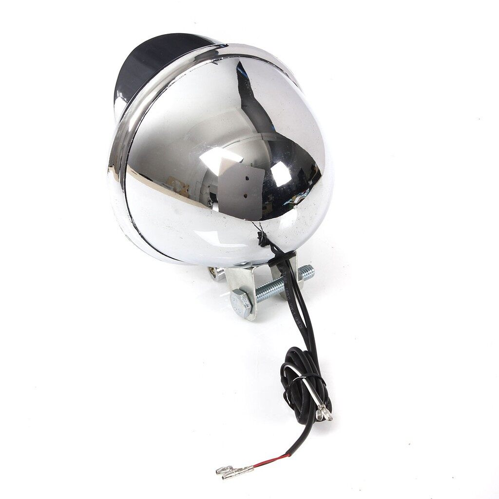 Moto Accessories - Motorcycle LED Headlight Chrome For Harley Chopper - Motorcycles, Parts