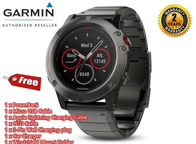 Garmin Fenix 5X Sapphire Editon Hiking Running Cycling Golf Swimming Triathlon Sport Watch + Free Gift