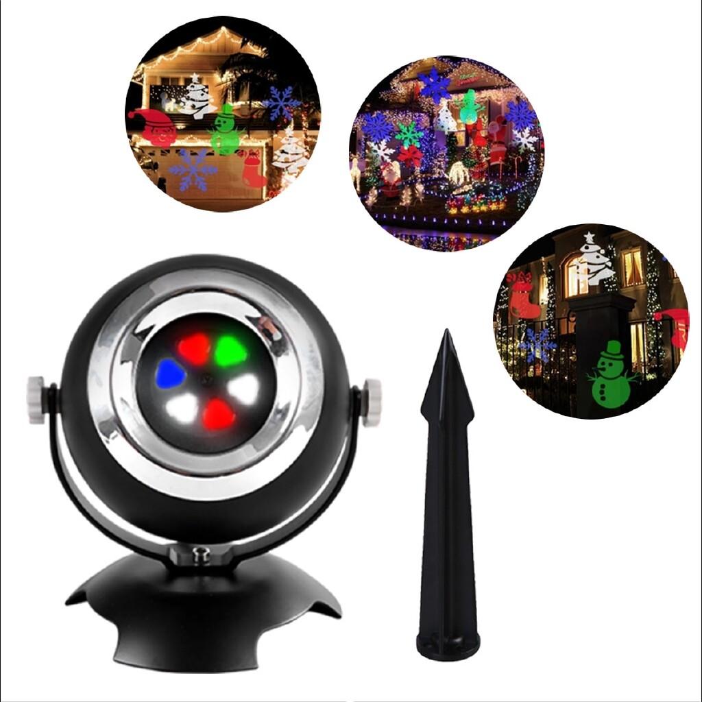Wall Lights & Sconces - Outdoor Moving Snowflake Multipattern Laser Projector Light Garden Party KTV DJ - Lighting