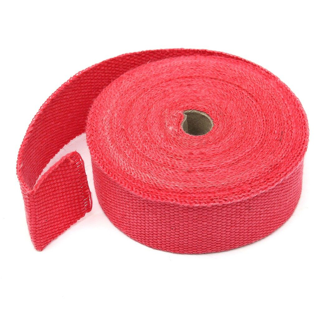 Exhaust - 15M Exhaust Manifold Heat Wrap Shield Turbo Downpipe Header Insulation Tape Red - Car Replacement Parts