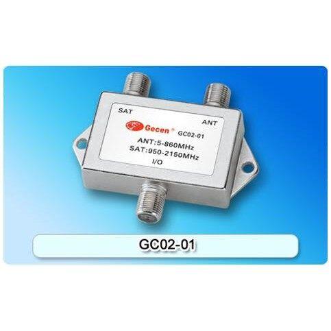 Gecen GS01-02 2 Way Splitter 1 to 2 HD Digital Satellite TV Receiver