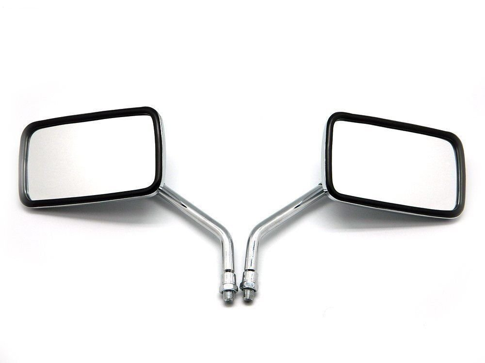 Motorcycle Chrome Rearview Side Mirrors Fashional Cool Square Shape Rear View Mirror
