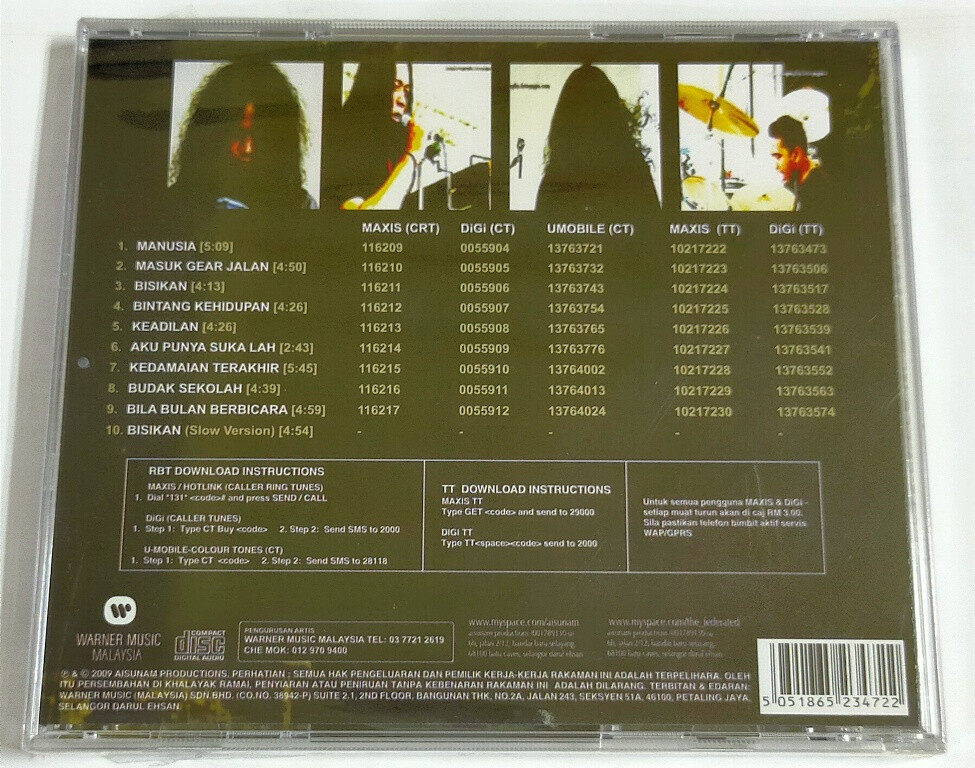 Aisunam Vs The Federated CD Hard Rock Music Original New And Sealed