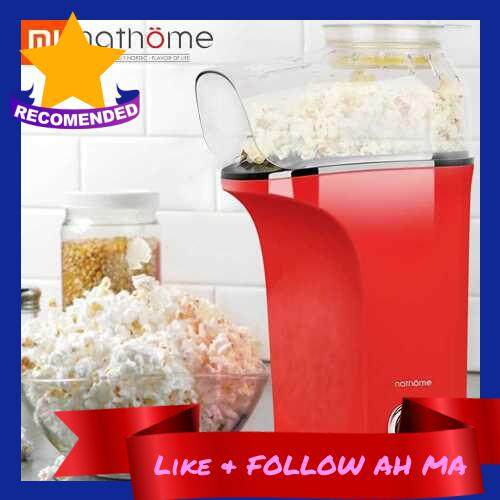 Best Selling Xiaomi Youpin Nathome Small Popcorn Machine Household Healthy Delicious Sharing Easy to Operate 1400W 220V (Red)