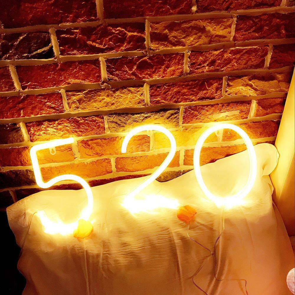 Lighting - LED Figure Lamp Battery Operated Powered 9 Shape Warm White for Home Party Decoration Cafe Shop - 9 / 8 / 7 / 6 / 5 / 4 / 3 / 2 / 1