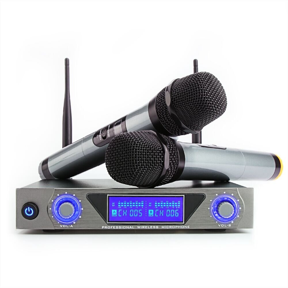Microphones - ARCHEER LCD UHF Karaok Microphone System Dual Mic Receiver - Audio